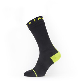 Sealskinz Waterproof All Weather Chaussettes mi-hautes, black/neon yellow